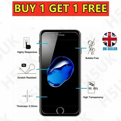 For Apple IPhone 7 Plus Tempered Glass Screen Protector - 100% Genuine • 0.99£