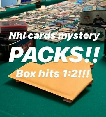 $ CDN3.99 • Buy MYSTERY NHL HOCKEY CARDS PACKS! 2+ HITs PER PACK - JERSEYS - AUTOS - 400+ SOLD!!