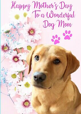 Personalised Labrador Card Mothers Day Fox Red Dog Birthday Any Greeting • 2.80£