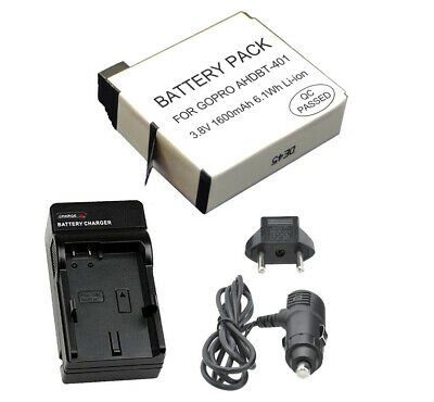 $ CDN11.41 • Buy HERO4 Battery For GoPro + Charger, AHDBT-401, 1600mAh