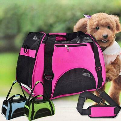 Pet Dog Cat Portable Travel Carrier Tote Cage Bag Crates Kennel Box Holder • 8.99£