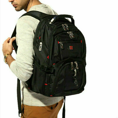 Swiss Men 17  Laptop Travel ScanSmart School Backpack Rucksack Outdoor Bag • 21.99£
