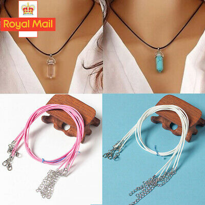 10pcs High Quality Leather Necklace Lobster Clasp Rope Cord String For Pendants • 1.55£