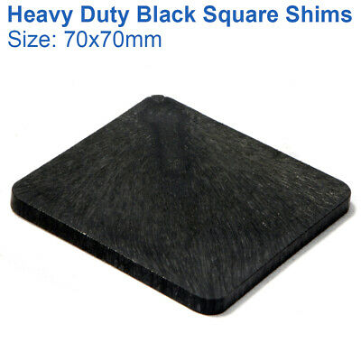 70mm X 70mm X 2mm SQUARE SHIMS PLASTIC PACKERS HEAVY DUTY PAILS SPACERS WEDGES • 0.99£
