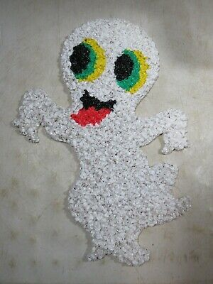 $ CDN33.33 • Buy Vintage Melted Plastic Popcorn Halloween Decoration Happy Ghost