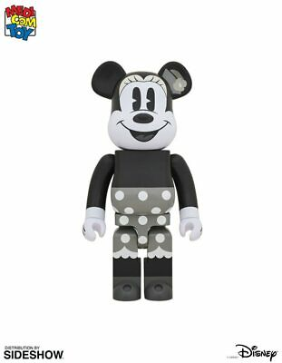 $1099 • Buy Bearbrick Minnie Mouse Black And White Version 1000% Figure By Medicom Toy