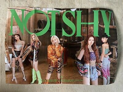 Kpop ITZY Official Not Shy Folded Poster B Version • 3.99£