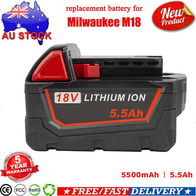 AU41.99 • Buy Battery For Milwaukee 18V XC 5.5Ah Lithium M18 48-11-1850 48-11-1828 48-11-1840