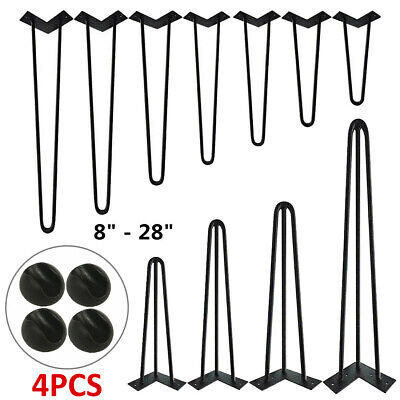 4x Industrial 10mm Steel Hairpin Table Legs Furniture Table Desk Bench 8 -28  UK • 13.99£