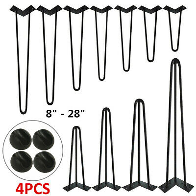 4x Industrial 12mm Steel Hairpin Table Legs Furniture Table Desk Bench 8 -28  UK • 19.99£