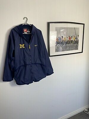 Michigan Wolverines NFL Vintage Nike Jacket Authentic Size Adults Large Rare. • 34.99£