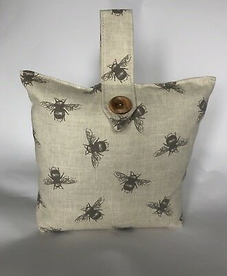 £17.99 • Buy FILLED ❤️Natural Bee Fabric ❤️ Shabby Chic Fabric Door Stop