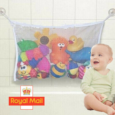 🎄 Large Kids Baby Bath Toy Tidy Organiser Mesh Net Storage Bag Holder Bathroom, • 3.19£