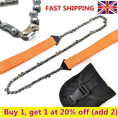 Hand ChainSaw,Camping Portable Pocket Gear Chain Saw Cutting Firewood Tool • 6.89£