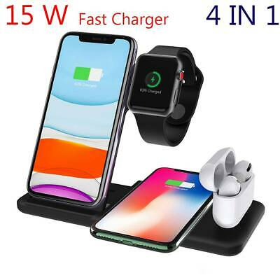 AU36.85 • Buy 4 In 1 Apple Qi Wireless Charger Charging Dock Stand Station For IPhone Watch AU