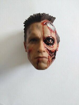 The Terminator Hot Toys T-800 Battle Damaged Version 1/6 Scale Head Only • 89.99£