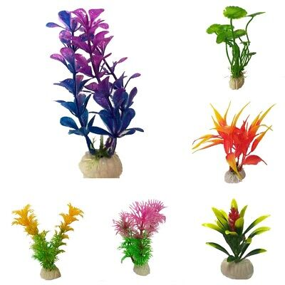 Artificial Aquatic Plants Small Aquarium Plant Plastic Fish Tank Decoration New • 2.99£