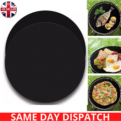 £6.49 • Buy 5 BBQ Grill Mat Non Stick Reusable Sheet Resistant Cooking Baking Oven Liners UK