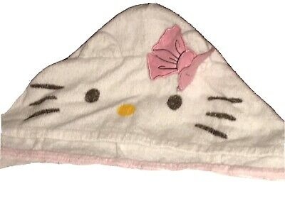 Hello Kitty Bonjour Towel With Kitty Face Hood 2'x4' 100% Cotton • 29.56£