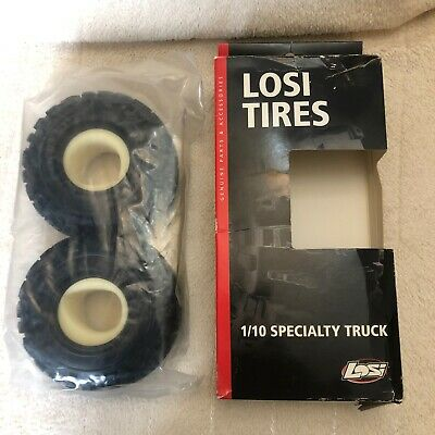 £10.99 • Buy NEW Losi Tires/Tyres.Front /Rear Rock Carvers 2.2   With Foam. LOSA7683W. 1:10