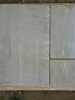Raj Green Indian Sandstone Natural Calibrated Patio Paving Slabs Pack 18.19m • 395£