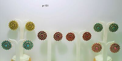 Indian Bollywood Latest Gold Plated Earring Daily Wear Small Earing • 3.99£