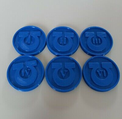 Warhammer Objective Markers Ultramarines X6 3D Printed War Game Accessory • 4.95£