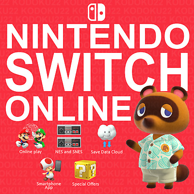 AU10.90 • Buy Nintendo Switch Online Membership (SALE!!!) 1 Year AUS NZ