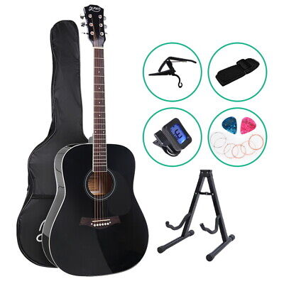 AU94.85 • Buy ALPHA 41 Inch Wooden Acoustic Guitar With Accessories Set Black