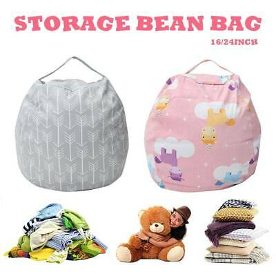 EXTRA LARGE Stuffed Animal Toy Storage Bean Bag Bean Cover Soft Seat Children  • 10.59£