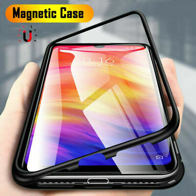 AU5.19 • Buy For OnePlus Nord 8 Pro 7T 6T Magnetic Absorption Metal Edge Back Glass Skin Case