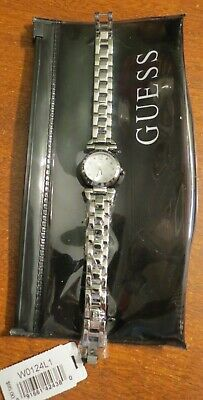 $ CDN76.06 • Buy Guess W0124L1 Silver Steel Bracelet & Case Mineral Women's Watch NWT - Needs Bat