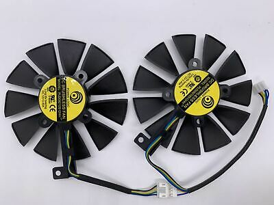 AU21.22 • Buy New2PCS Graphic Card Cooling Fan For ASUS DUAL GeForce GTX1060-O6G PLD09210S12HH