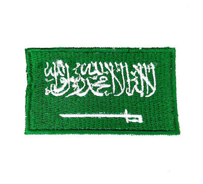 £1.99 • Buy Saudi Arabia National Country Flag Iron Sew On Embroidered Patch
