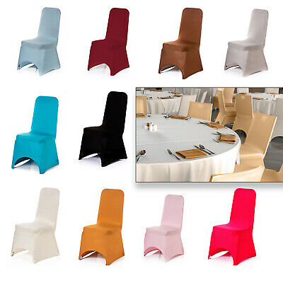 Spandex Dining Chair Seat Covers Wedding Banquet Party Stretch Removable • 3.49£