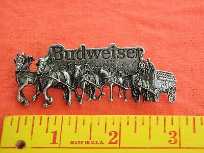 $ CDN24.76 • Buy Vintage Budweiser Clydesdales Horses AND Beer Wagon  PIN  REAR DOUBLE PIN