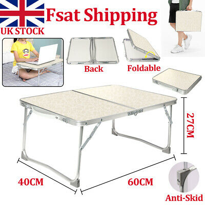 Portable Folding Camping Table Notebook Laptop Desk Bed Breakfast Tray Stand • 8.59£