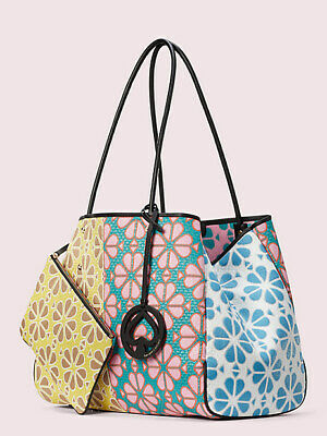 $ CDN666.69 • Buy Kate Spade EVERYTHING SPADE Flower Large Tote Bag/Pouch Yellow-Multi SOLD OUT!