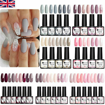 4-6 Colors UR SUGAR UV Gel Nail Polish Purple Pink Base Top Gel Nail Varnish Set • 8.99£