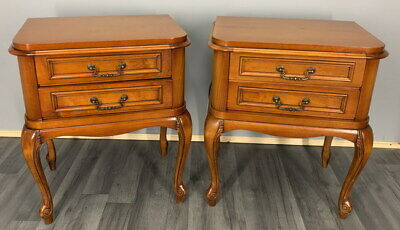 Amazing Pair French  Bedside Tables Cupboards Cabinets Louis XVI • 249£
