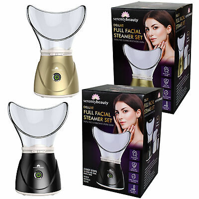 Facial Steamer Digital Face Spa Pores Steam Sprayer Skin Beauty Mist Sauna New • 14.70£