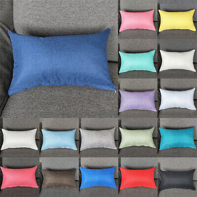 30X50cm Imitation Cotton Solid Color Pillow Case Home Sofa Cushion Cover Decor • 4.99£