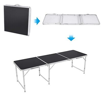 6ft Folding Desk Portable Camping Table Height Adjustable Outdoor Garden Table • 38.99£
