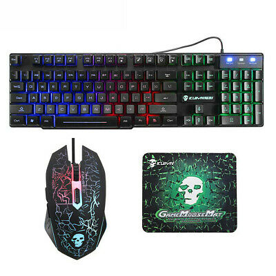 Gaming Keyboard Keyboard Mouse Combos Cracked Decorative Pattern Computer Mouse • 16.73£