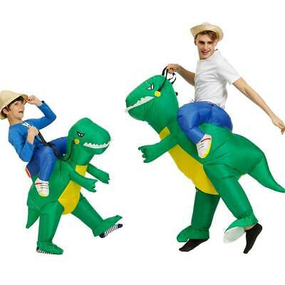 Kid Adult Dinosaur Inflatable Costume Party T-REX Halloween Blow Up Outfits Fun • 9.99£