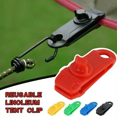 Tarp Clips Outdoor Tent Awning Canopy Clamp Clip Jaw Grip Trap Tighten Tools UK • 2.31£