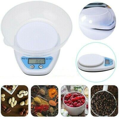 5kg Digital Kitchen Scales Lcd Electronic Cooking Food Measuring Bowl Scale Uk • 6.49£
