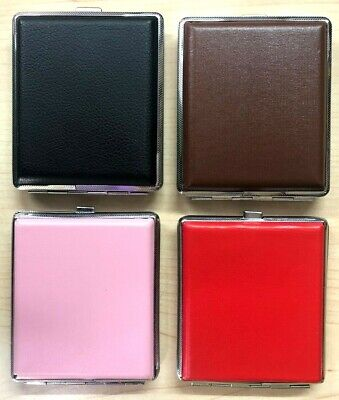 Man & Women Thin Slim Faux Leather Cigarette Case Box Holder,Fast &Free Delivery • 5.99£