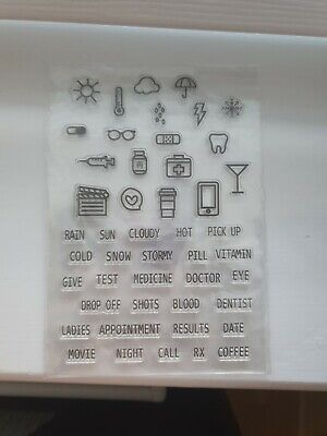 Clear Silicone  Stamps Scrapbooking Album Card Making Embelishments DlY. • 2£