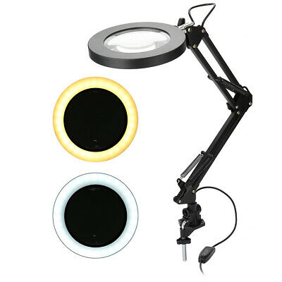 £9.95 • Buy 5X Magnifying Lamp Desk Table  Glass Beauty Nail Salon Tattoo Magnifier Light
